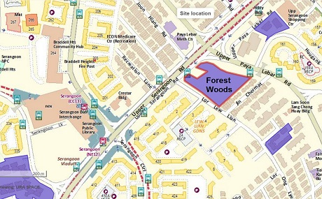 Forest Woods URA Location Map