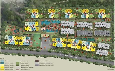 Kent Ridge Hill Residences Site Plan