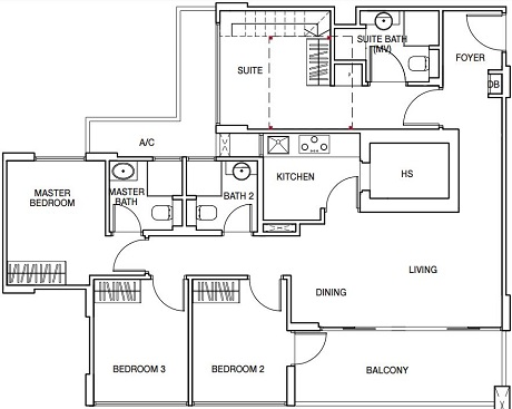 Sunnyvale Residences Floor Plan Call Eric Tan @ 97881579