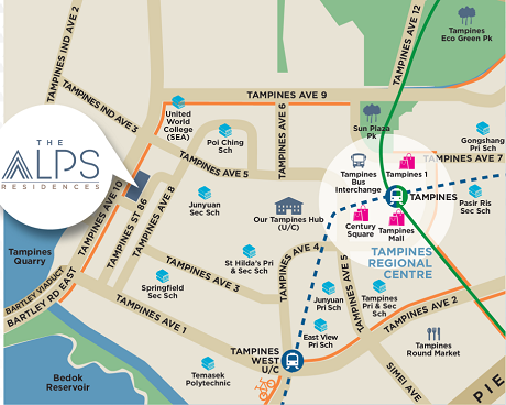 The Alps Residences Showflat Location Map