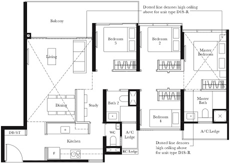 The Garden Residences Floor Plan Singapore Condominium