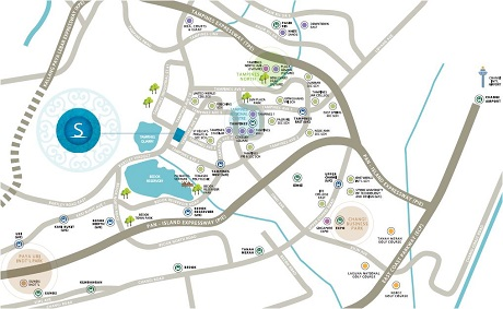 The Santori Location Map at Tampines
