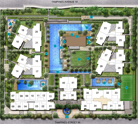 The Santori Site Map at Tampines Ave 10 Call Eric Tan 97881579
